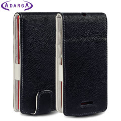 Adarga Leather-Style Sony Xperia L Flip Case - Black