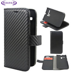 Adarga Multi-Function Moto G Wallet Case - Carbon Fibre