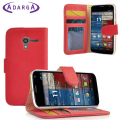 Adarga Multi-Function Moto G Wallet Case - Red