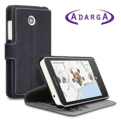 Adarga Nokia Lumia 630 / 635 Leather-Style Wallet Case - Black