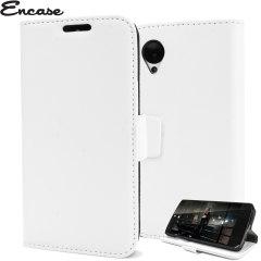 Adarga Premium Wallet Stand Nexus 5 Case - White