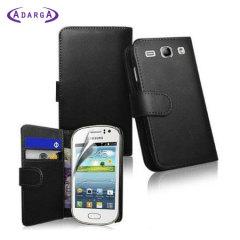Adarga Samsung Galaxy Fame Wallet Case - Black