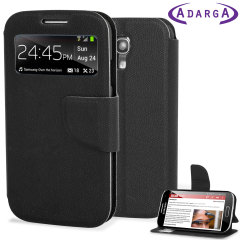 Adarga Samsung Galaxy S4 Mini View Flip Case - Black