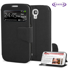 Adarga Samsung Galaxy S4 View Flip Case - Black