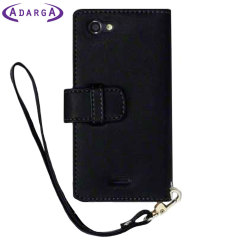 Adarga Sony Xperia J Wallet Case - Black