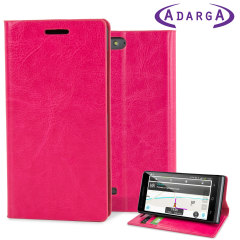 Adarga Stand And Type EE Kestrel Wallet Case - Hot Pink
