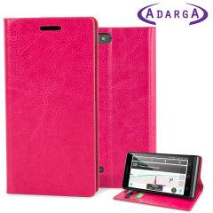 Adarga Stand And Type EE Kestrel Wallet Case - Hot Pink