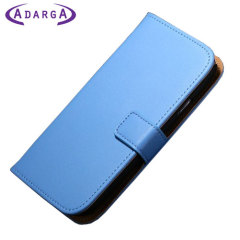Adarga Stand and Type Samsung Galaxy Avant Wallet Case - Blue