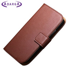 Adarga Stand and Type Samsung Galaxy Avant Wallet Case - Brown