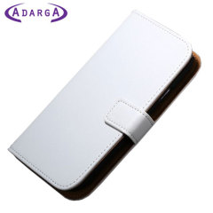 Adarga Stand and Type Samsung Galaxy Avant Wallet Case - White