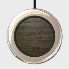 Aircharge Executive Qi Wireless Charging Pad US Plug - Ebony / Chrome