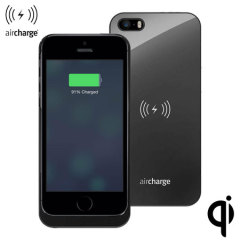 aircharge Qi Charging Case for iPhone 5S / 5 - Black
