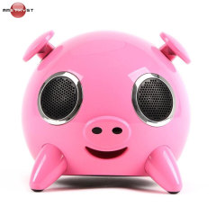 Amethyst iPig Bluetooth Speaker with USB Phone Charging Port - Pink