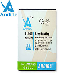 Andida Extended Battery for Samsung Galaxy Ace - 1800mAh