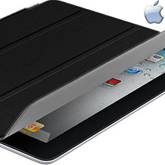 Apple Leather Smart Cover for iPad 4 / 3 / 2 - Black