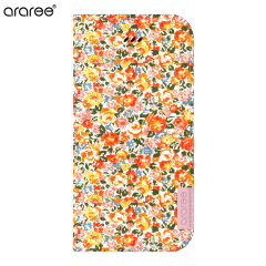 Araree Blossom Fabric iPhone 6 Plus Leather Diary Case - Bloom