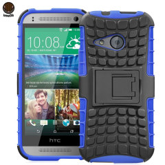 ArmourDillo HTC One Mini 2 Hybrid Protective Case - Blue