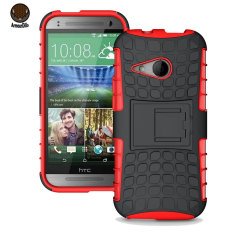 ArmourDillo HTC One Mini 2 Hybrid Protective Case - Red