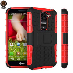 ArmourDillo Hybrid LG G2 Mini Protective Case - Red