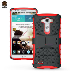 ArmourDillo Hybrid LG G3 Protective Case - Red