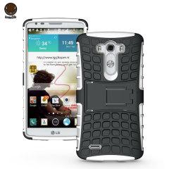 ArmourDillo Hybrid LG G3 Protective Case - White
