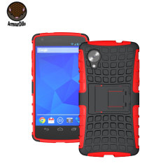 Armourdillo Hybrid Protective Case for Google Nexus 5 - Red