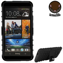 ArmourDillo Hybrid Protective Case for HTC One - Black