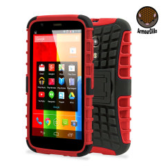 Armourdillo Hybrid Protective Case for Motorola Moto G - Red