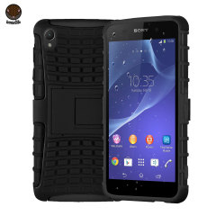 ArmourDillo Hybrid Protective Case for Sony Xperia Z2 - Black