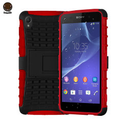 ArmourDillo Hybrid Protective Case for Sony Xperia Z2 - Red