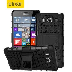 ArmourDillo Hybrid Protective Microsoft Lumia 950 Case - Black