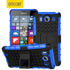 ArmourDillo Hybrid Protective Microsoft Lumia 950 Case - Blue