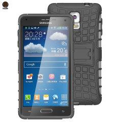 ArmourDillo Hybrid Samsung Galaxy Note 4 Protective Case - Black