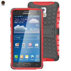 ArmourDillo Hybrid Samsung Galaxy Note 4 Protective Case - Red