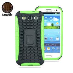 ArmourDillo Hybrid Samsung Galaxy S3 Protective Case - Green