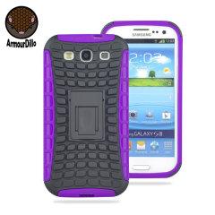 ArmourDillo Hybrid Samsung Galaxy S3 Protective Case - Purple