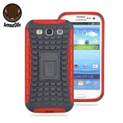 ArmourDillo Hybrid Samsung Galaxy S3 Protective Case - Red