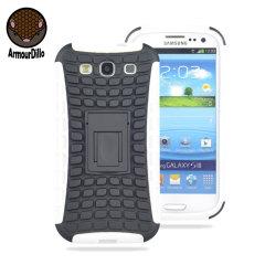 ArmourDillo Hybrid Samsung Galaxy S3 Protective Case - White