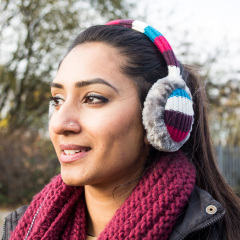 Audio Earmuff Headphones - Stripes