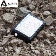 Aukey 7,500mAh Tough Waterproof Power Bank - Metallic Silver