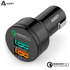 Aukey Dual USB Qualcomm Quick Charge 2.0 Car Charger