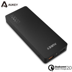 Aukey Portable 10,000mAh Dual USB Qualcomm Quick Charge 2.0 Power Bank
