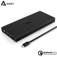 Aukey Portable 12,000mAh Dual USB Qualcomm Quick Charge 2.0 Power Bank