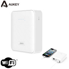 Aukey Portable Wireless Router, 6000mAh Power Bank & Media Share