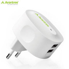Avantree 2.1A Dual USB EU Mains Charger