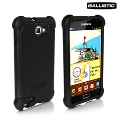 Ballistic Shell Gel Case for Samsung Galaxy Note - Black