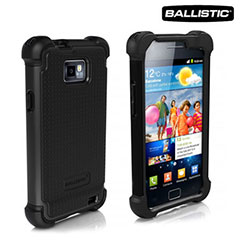 Ballistic Shell Gel Case for Samsung Galaxy S2 - Black