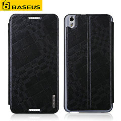 BASEUS Leather-Style Wallet Stand HTC Desire 816 Case - Black