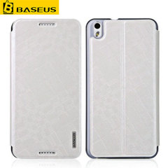 BASEUS Leather-Style Wallet Stand HTC Desire 816 Case - White