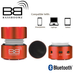 BassBoomz Portable Bluetooth Speaker - Red